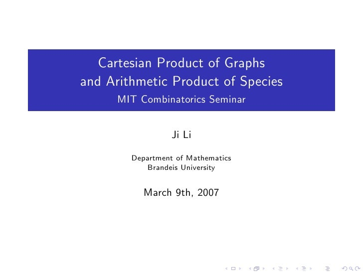Arithmetic Product of Species