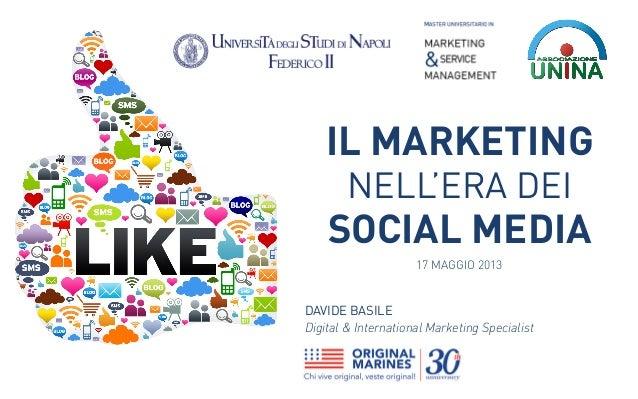 Il Marketing nell'era dei Social Media