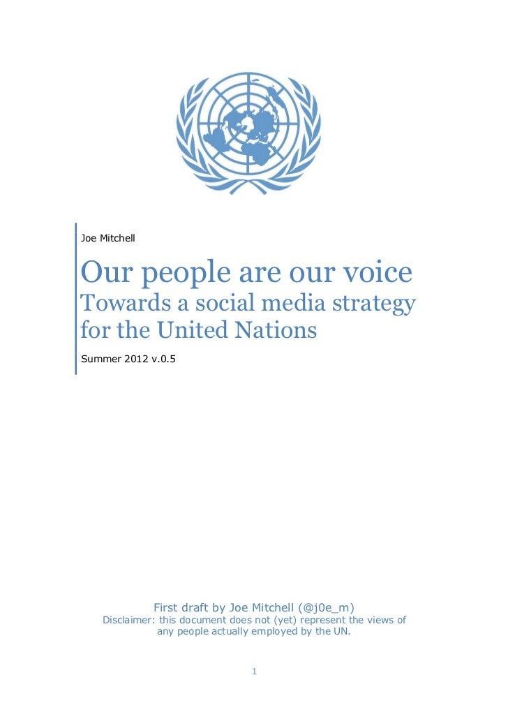 Towards a UN social media strategy (for screen reading)