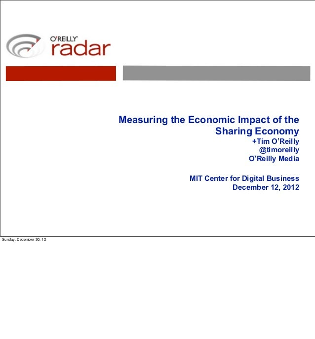 Measuring the Economic Impact of the                                             Sharing Economy                          ...