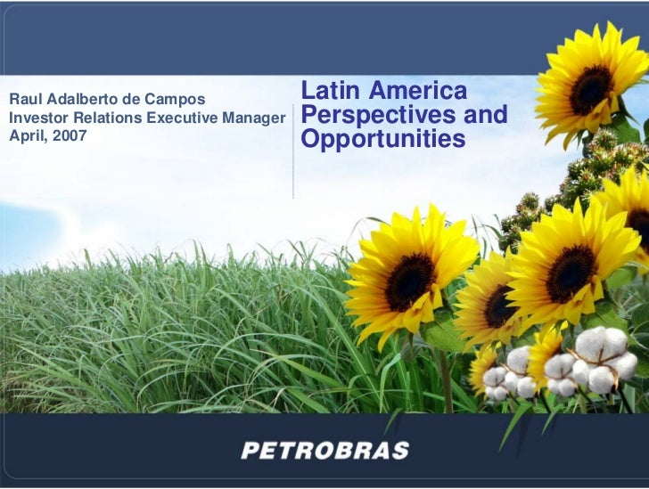 Raul Adalberto de Campos               Latin America Investor Relations Executive Manager   Perspectives and April, 2007  ...