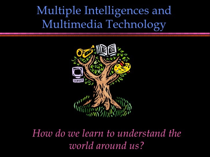 Multiple Intelligences and Multimedia Technology How do we learn to understand the world around us?