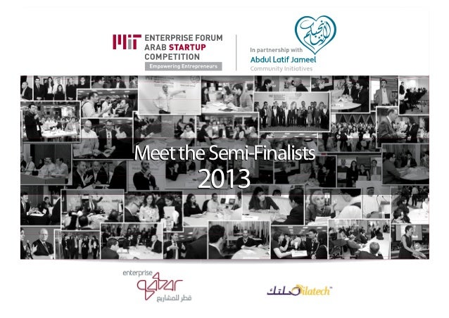 MIT Enterprise Forum PAN Arab Region Semi-finalists 2013