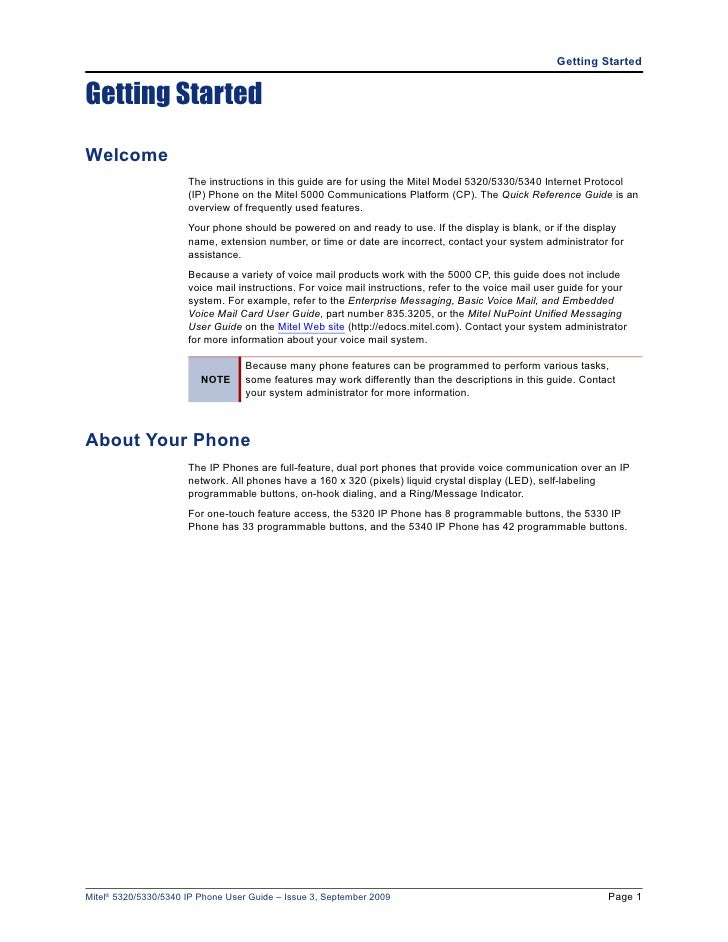 mitel phone system user guide