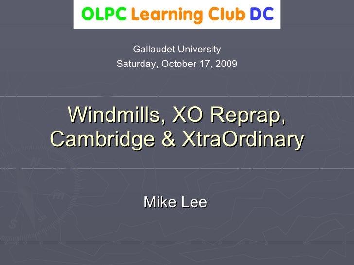 OLPC Learning Club October 2009 Slides