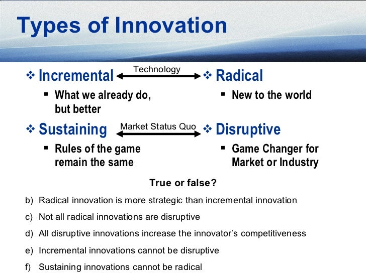 types of innovations in marketing Indeed, there are many types of innovation such as: product innovation, process  innovation, marketing innovation, organizational innovation, paradigm.