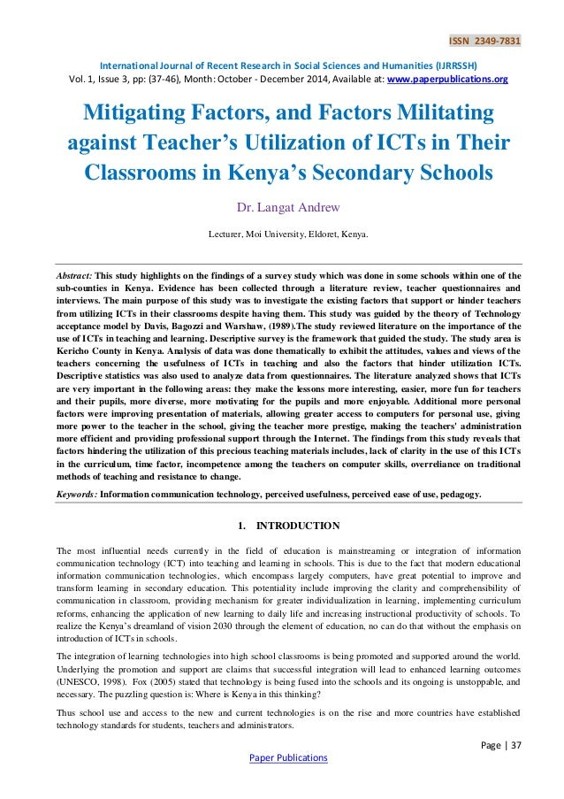 Do You Think Introducing ICT In Lessons in School Is Effective and Why?