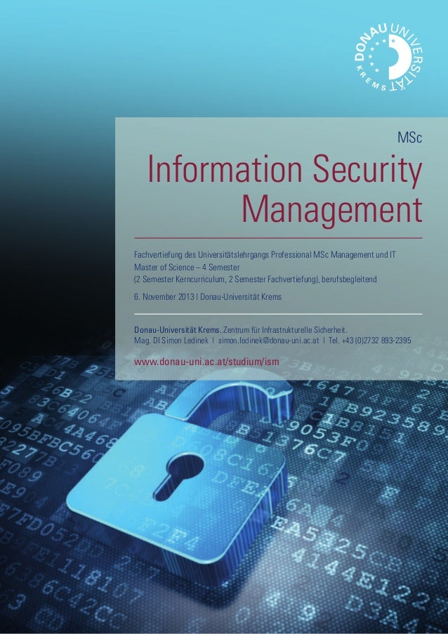 Information Security Management, MSc Donau-Universität Krems