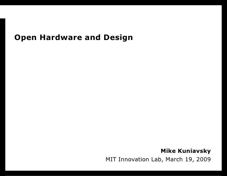 Open Hardware and Design