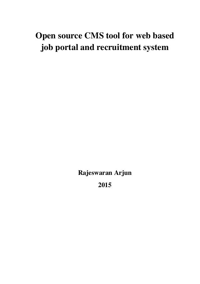 Online recruitment dissertation