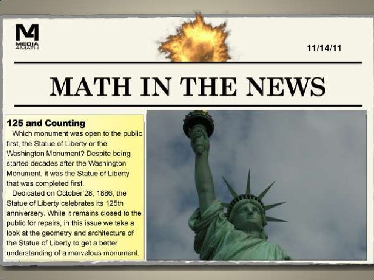 Math in the News: 11/14/11