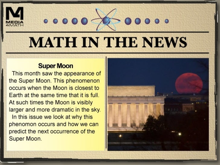 Learn more about the Super Moon     phenomenon. Watch this         YouTube video.   http://youtu.be/kOplwuMTyS4