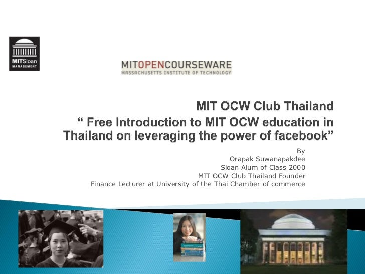 Mit Ocw Club Thailand ( Eng Version)