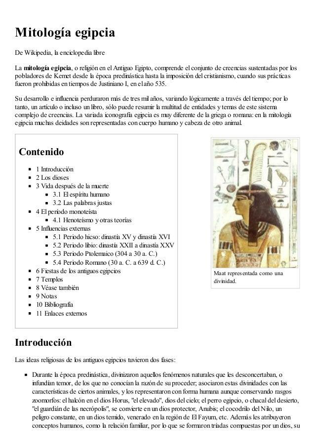Maat representada como una divinidad. Mitología egipcia De Wikipedia, la enciclopedia libre La mitología egipcia, o religi...