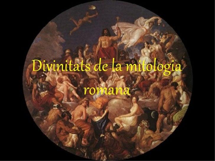Divinitats de la mitologia romana
