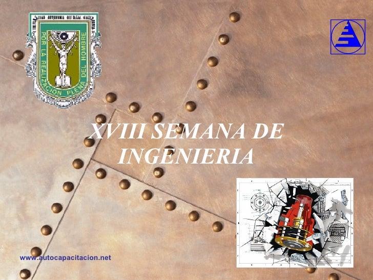 XVIII SEMANA DE INGENIERIA