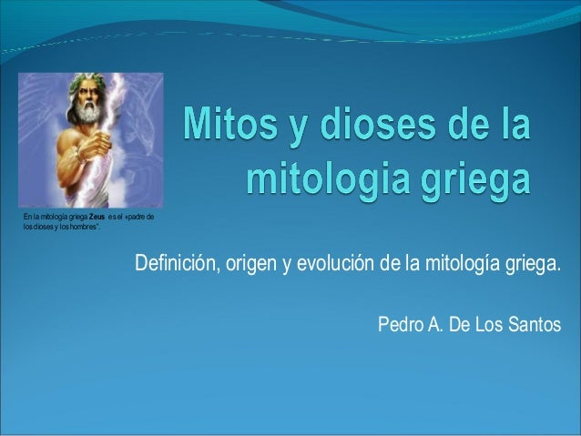 Mitos y dioses de la mitologia griega