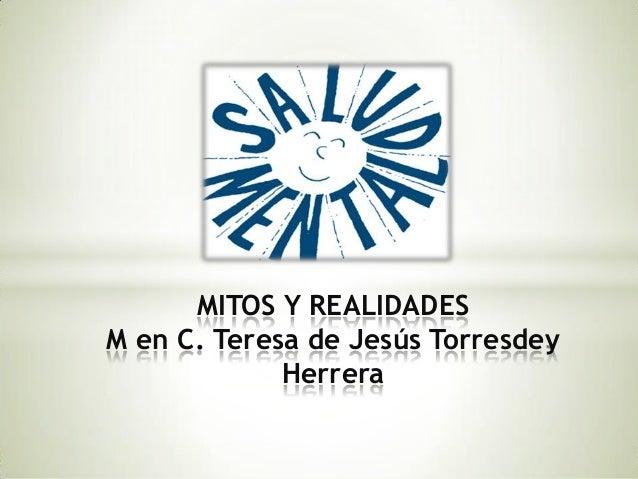 MITOS Y REALIDADESM en C. Teresa de Jesús Torresdey             Herrera