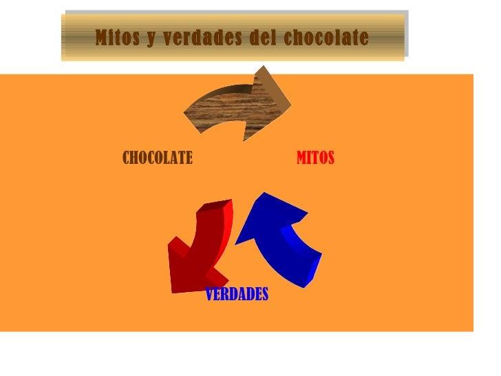 Mitos y verdades del chocolate MITOS VERDADES CHOCOLATE
