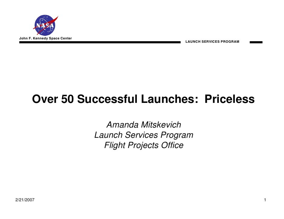 John F. Kennedy Space Center                                                      LAUNCH SERVICES PROGRAM       Over 50 Su...