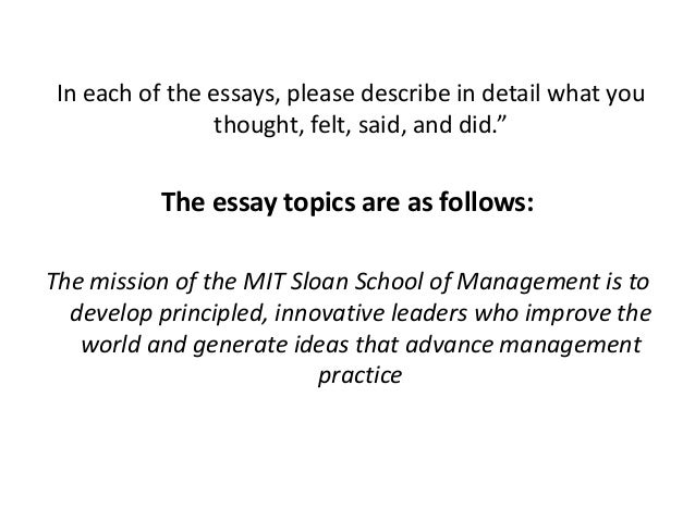 mit mba essays tips