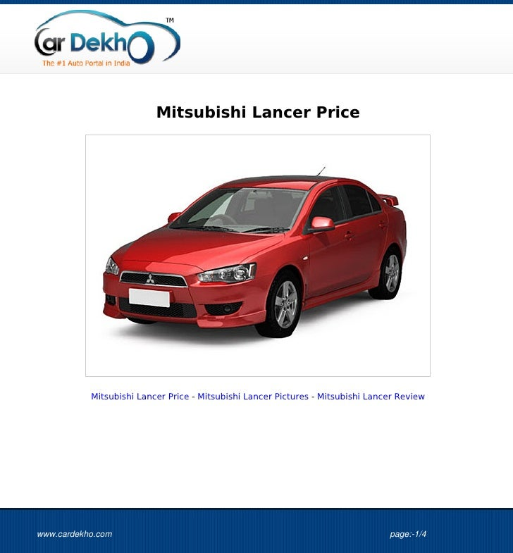 Mitsubishi Lancer Price           Mitsubishi Lancer Price - Mitsubishi Lancer Pictures - Mitsubishi Lancer Reviewwww.carde...