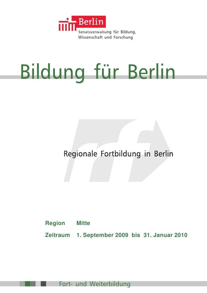 1              Senatsverwaltung für Bildung,              Wissenschaft und Forschung     Bildung für Berlin          Regio...