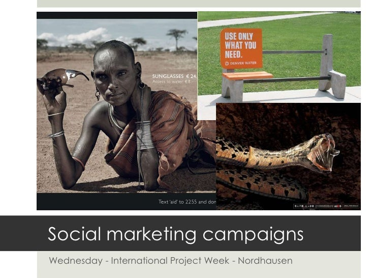 Social marketing campaigns<br />Wednesday - International Project Week - Nordhausen<br />