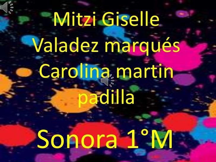 Mitzi GiselleValadez marqués Carolina martin     padillaSonora 1°M