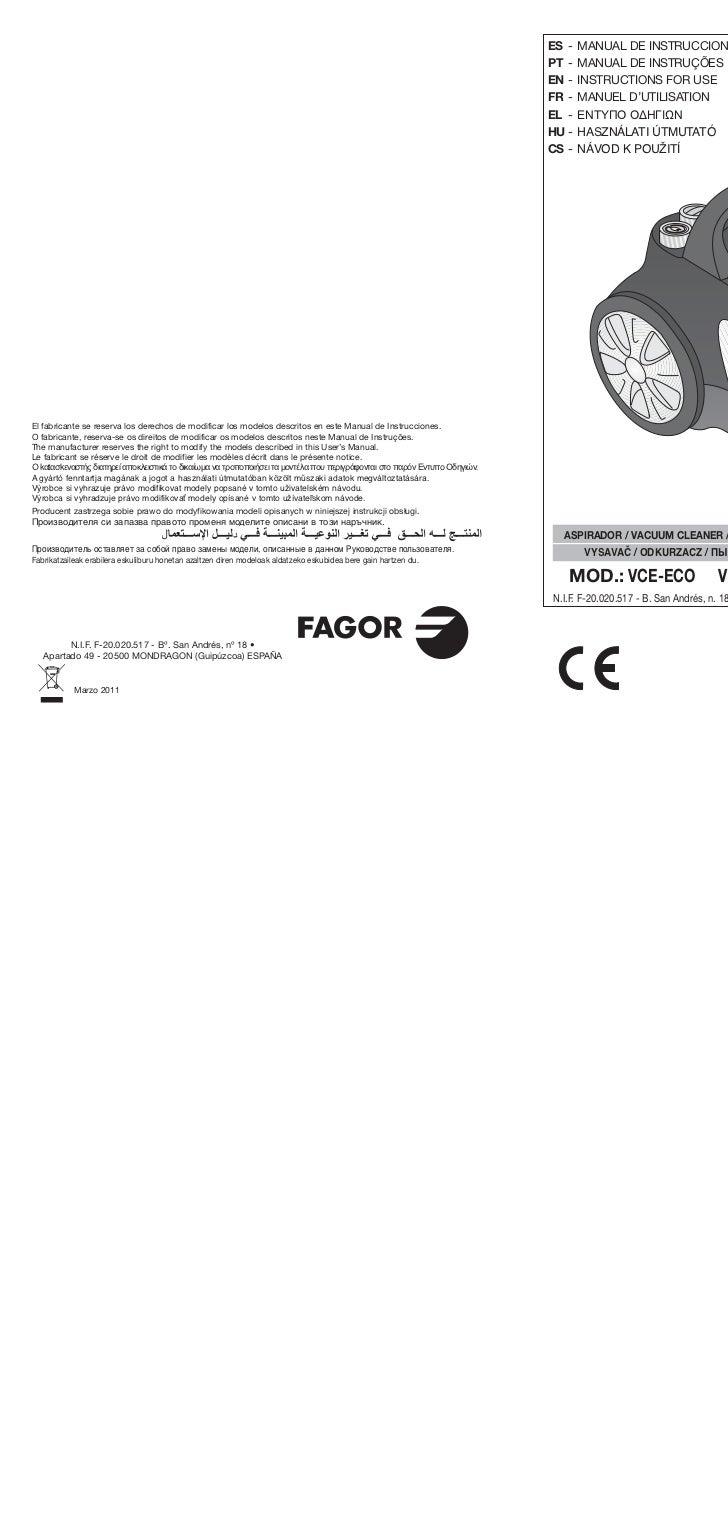 Mi vce eco, 171, 181 cp, 201cp web - Servicio Tecnico Fagor