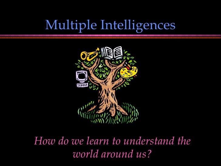 Multiple Intelligences How do we learn to understand the world around us?