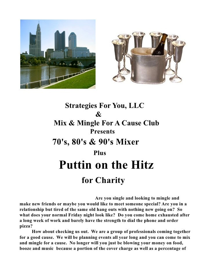 Strategies For You, LLC                             &                 Mix & Mingle For A Cause Club                       ...