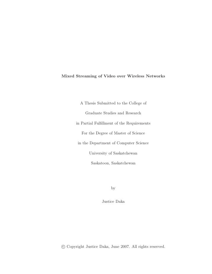 Mixed Streaming of Video over Wireless Networks
