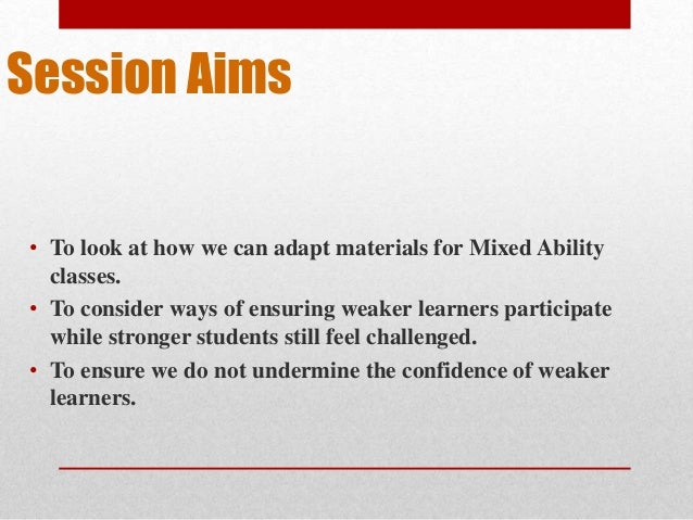 mixed-ability teaching essays Category: papers title: grouping students in mixed-abilities versus same-abilities classrooms.