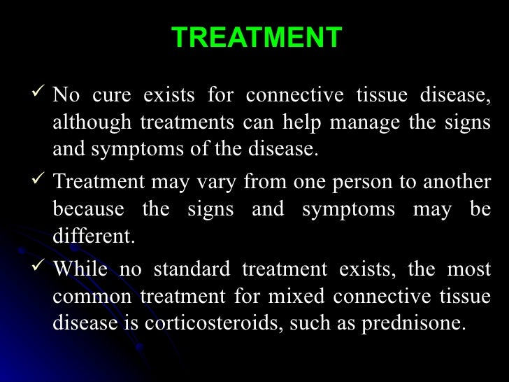 mixed connective tissue disease treatment guidelines