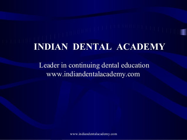 Mixed dentition ortho treatment /certified fixed orthodontic courses by Indian dental academy