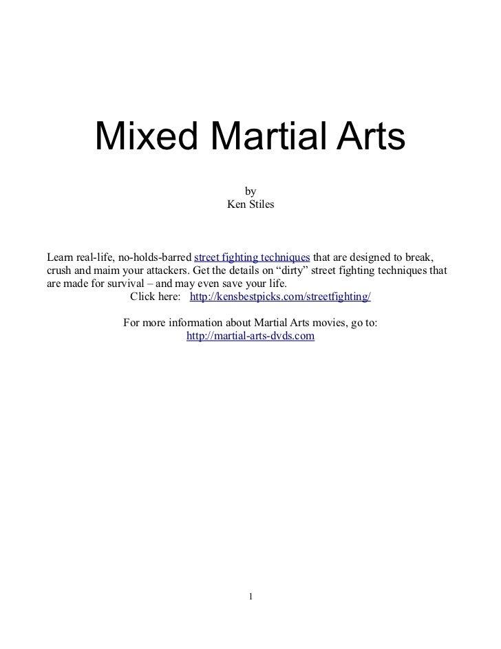 Mixed Martial Arts                                           by                                        Ken StilesLearn rea...