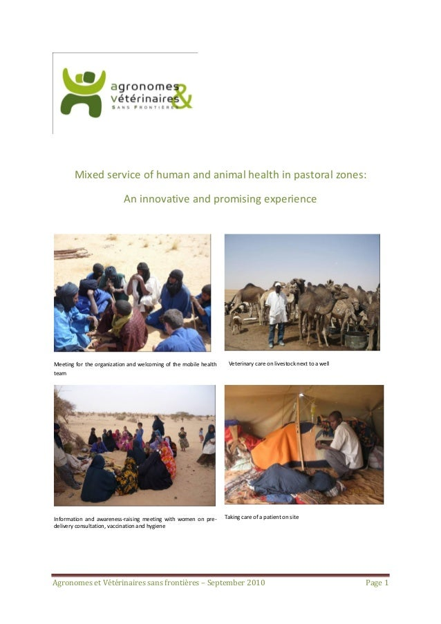 Mixed service of human and animal health in pastoral zones:                           An innovative and promising experien...
