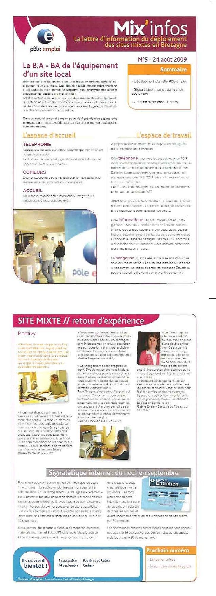 Mixinfos 5 du 24 Aout 2009