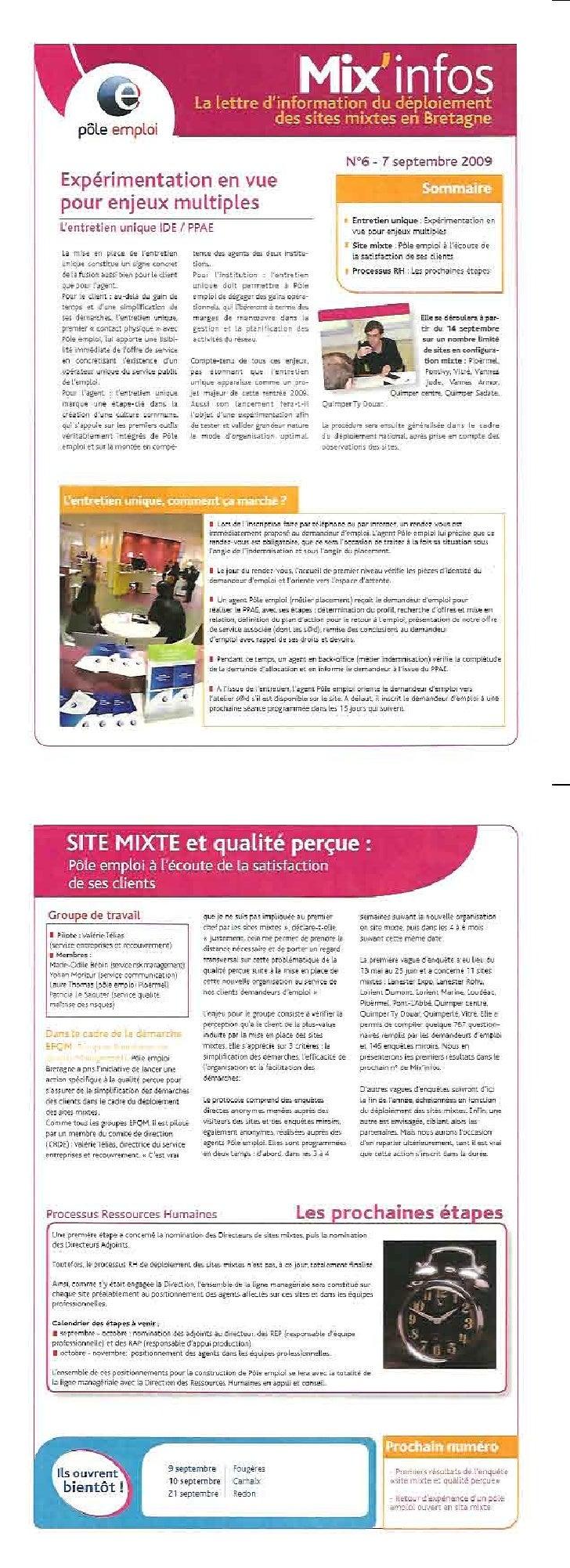 Mixinfos 6 du 7 Septembre 2009