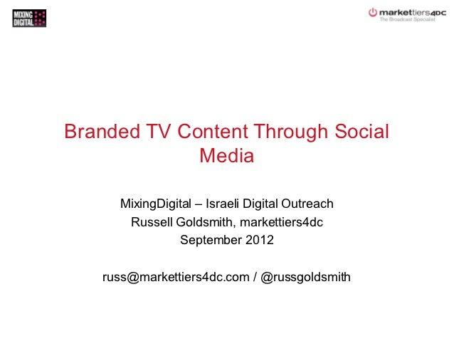 Branded TV Content Through Social Media