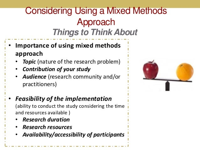 the case for mixed methodology research a review of literature and methods