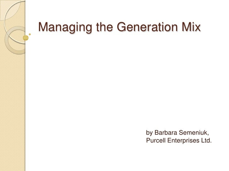 Mixing The Generations