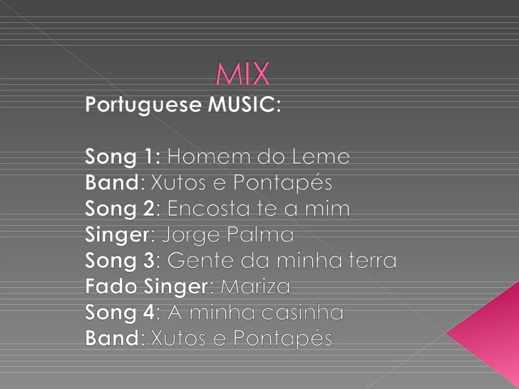 Mix of Portuguese songs