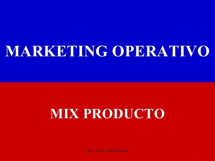 Mix producto   2010 cap 4
