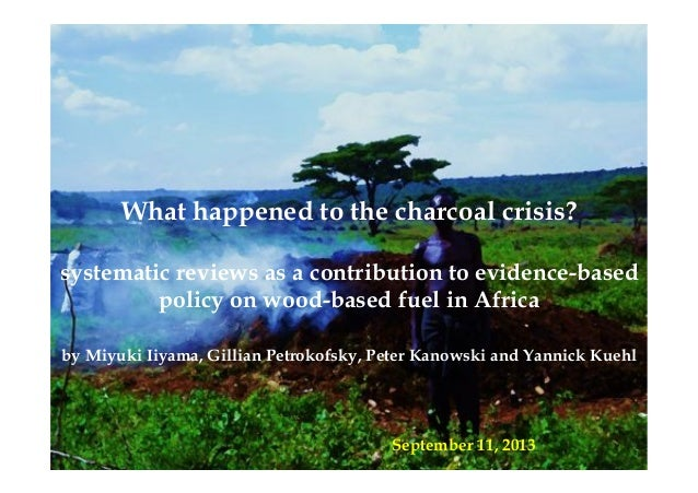 What happened to the charcoal crisis? systematic reviews as a contribution to evidence-based policy on wood-based fuel in ...