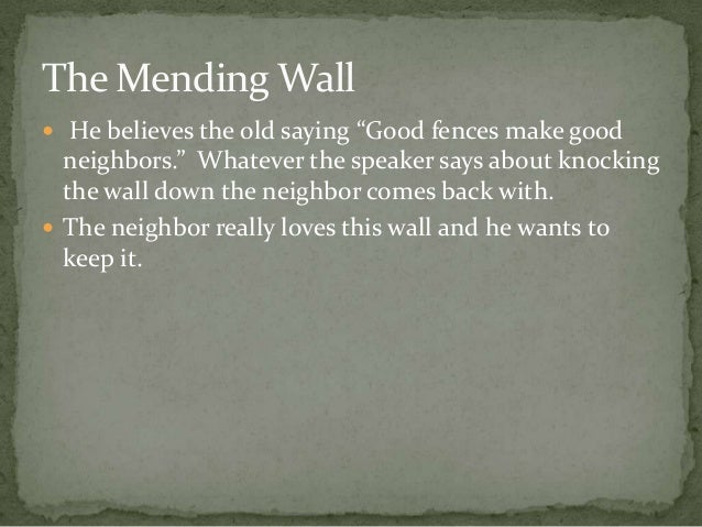 the mending wall essay