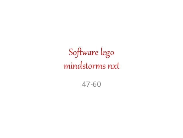 Software lego mindstorms nxt 47-60