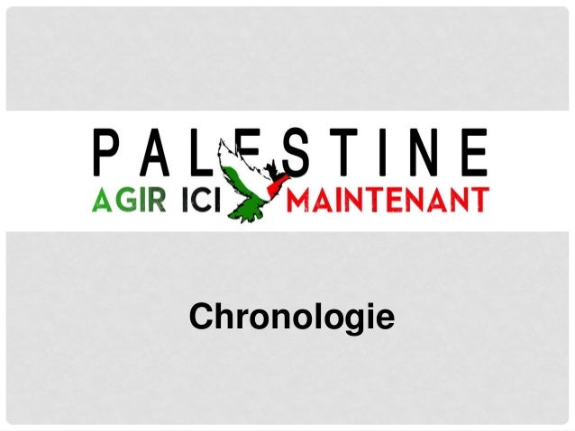Formation - conflit israelo-palestinien (chronologie)