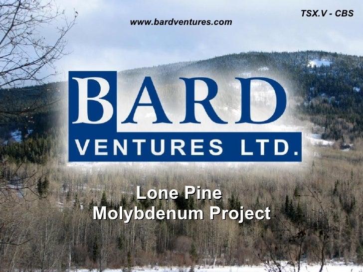 Lone Pine Molybdenum Project